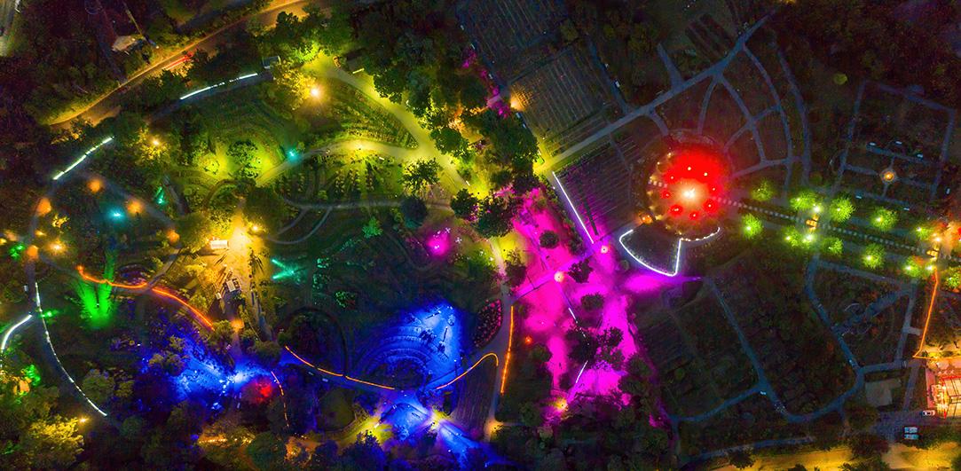 Lichterglanz im Rosenpark